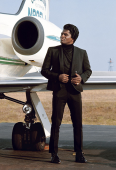 James Brown et son jet privé, Long Island Airport, Etats-Unis, 1967