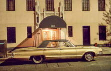 161 car, Chrysler New Yorker, north of 14th Street off 7th Avenue, 1974