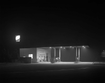 Night Photographs N-192, Moriya Service Area, Joban Expressway, 1986