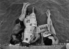 World events, Ostia beach, Rome, 1956