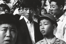 Youth of Japan in bleachers of Korakuen Ball Park, Tokyo, 1961