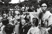 In the garden of the International Cultural Center a women's literary group poses, Tokyo, 1961