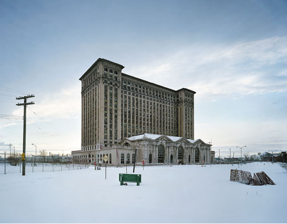 Outside 3/4, Michigan Central Station, Detroit, USA, 2008